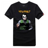 batman dark knight t shirts - Batman The dark Knight Rises Heath Ledger Who so Serious short sleeve t shirt