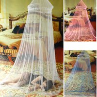 Wholesale Elegant Netting Bed Canopy Mosquito Net door White Curtain Nets Bedding Set Mosquiteiro Tent Mosquiteiros De Teto Magic Mesh