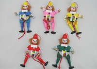 baby toy drums - Wooden pull the clown Rope Baby toys beat a drum Creative gift Interactive game