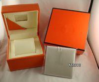 Las mujeres de la manera original de la marca suiza Relojes para mujer para la caja de papel naranja para señora de los hombres de lujo del reloj de pulsera para hombre de la tarjeta de folletos en Inglés regalo