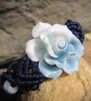 handmade clay pendant - 12PCS Women Vintage Flower Braided Bracelet Handmade Braided Bracelet Friendship Bracelet Infinity Bracelet Pendant Bracelets