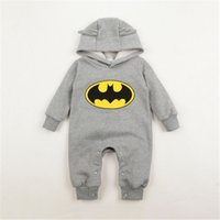 Cheap Newborn Boy Clothes Baby Batman Hoodies Infant One-Piece Romper Clothes 100% Cotton 3-24Months 3 P L