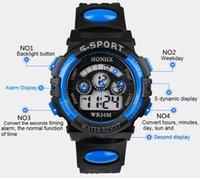Wholesale 1 pc Waterproof Men Boy Digital LED Alarm Quartz data Sports relógio de pulso T east
