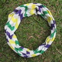 Wholesale Blanks Adults Multi Chevron Mardi Gras Scarves Mardi Gras scarf Accessories Costume and Decoration DOM103102