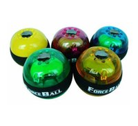 Wholesale E0693 NEW color optional Gyroscope LED Wrist Strengthener Ball arm Grip Ball Power Muscle Exercise massage fuction