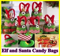 Wholesale In Stock Elf Bags Christmas Candy Gift Bag Xmas wedding Party Supplies Top Selling Christmas Decorations