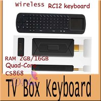 Wholesale CS868 mini pc Android Support update A31 Quad Core TV dongle with wife D tv box RC12 wireless keyboard Freeshipping
