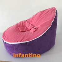 Wholesale Comfortble Pink Purple Infant Bean Bag Soft Sleeping Bag Portable Seat Without Filling