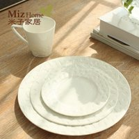 Wholesale Rice son home European style ceramic tableware set white wedding cup dish set Cindy Ray La geometry