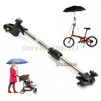 Wholesale Bike Bicycle Stroller Wheelchair Adjustable Rotatable Bar Holder Bracket Umbrella Mount Stand Handl