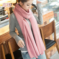 hijab - Fashion Wool Winter Scarf Simple Solid Color Casual Shawls And Scarves Women And Men Knitting Warm Hijab Shawl Scarfs