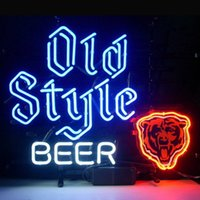 beer glass styles - 17 quot x14 quot Old Style Beer design Real Glass Neon Light Signs Bar Pub Restaurant Billiards Shops Display Signboards
