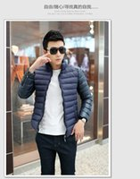 atmosphere outerwear - Fall winter jacket men fashion collar jacket men warm atmosphere of high end leisure and entertainment Down jacket upper outerwear