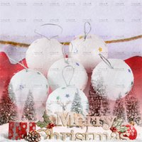 Wholesale 100 brand new and high quality Christmas Snowball Balls Party Ornaments Xmas Tree Hanging Decoration Decor