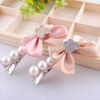 Wholesale jewelry fashion bow hair clips over drilling acrylic side clip hair jewelry mixed batch Hair Clips Barrettes