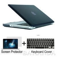 Wholesale Christmas gift clear crystal Rubberized matte Surface hard cover case sleeve for macbook pro with retina without logo