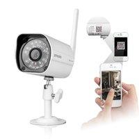 achat en gros de zmodo caméras sans fil-720P Caméra sans fil Wifi Caméra réseau IP Webcam IR Night Vision DC 12V 1A étanche Zmodo ZP-IBH13-W Sécurité