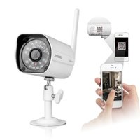 al por mayor zmodo cámaras inalámbricas-720P Wifi red inalámbrica IP Webcam de la cámara de infrarrojos de visión nocturna DC 12V 1A impermeable Zmodo ZP-IBH13-W Seguridad