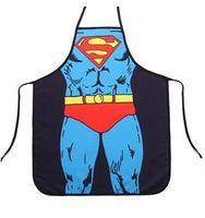 200pcs moda super man batman Flash Spiderman delantal gigante verde banal creativa de la novedad regalos parejas partido 58 * 72CM