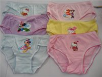 Wholesale Cute Cartoon Mixed Designs Girl s Briefs Children Underwear Kid s Underwear Sizes Available
