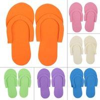 foam pedicure slippers - 10 Pairs Practical Disposable Foam Pedicure Travel Slippers Flip Flop Foot Spa