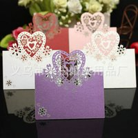 wedding place cards - 50pcs Laser Cut Love Heart Wedding Name Place Card For Wedding Table Description Wedding Supplies