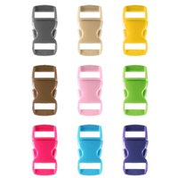 Wholesale 10pcs multicolor mm Shackle Contoured Curved Side Release Plastic Buckle for Paracord Bracelet
