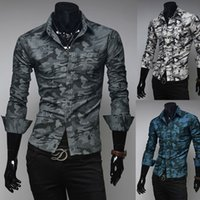 Cheap Camouflage Printed Men's Shirts Best Long Sleeve Casual Shirts