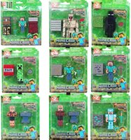 toys - 2015 Minecraft Steve Zombie Skeleton Enderman Building Block Toys Assembly Toys Compatible Action Toy Figures Minecraft creeper