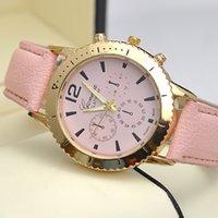 Unisex mens luxury watch quartz - geneva watches for men new fashion luxury wristwatches mens watches for women Ms GENEVA Geneva color belt female watch quartz watch ca