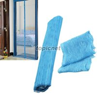 Wholesale ASLT Sky Blue Magnetic Mesh Anti Mosquito Bug Door Curtain Window Fly Screen New order lt no track