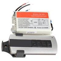 Wholesale 2 Channel Wireless Digital Remote Control Switch Lightswitch Power Switch PTCT High Quality Brand