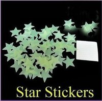 Wholesale 100Pc Home Wall Glow In The Dark Space Star Stickers Ceiling Decal Baby Kid Room