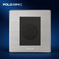 Wholesale POLO Luxury Wall Light Switch Panel Dimmer Champagne Black Electric Socket A V V