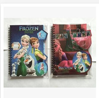 Wholesale 5 styles Fashion Big Hero notebook Frzoen Cars journal notebook best gift for children lovely book gift stationery paper R0401