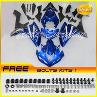 Wholesale Injection Molded Fairing With Half Tank Cover Fits YZF1000 R1 YZF R1 Blue E97