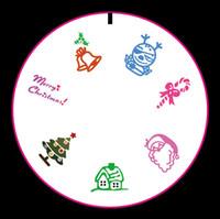 art tree images - Konad Nail Art Stamping Plates Polish Styling Tools Printing Image Template Cute Happy Christmas Tree Xmas Santa Rings Design
