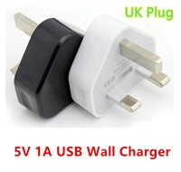 Wholesale UK Pin Mains Charger Adapter Plug V A UK USB Wall Adapter for Iphone Android Tablet Pc universal