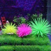 Wholesale Underwater Ornament Decor More Color Silicone Aquarium Fish Tank Artificial Coral Plant