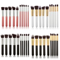 Wholesale 10Pcs Professional Cosmetic Makeup Tool Brush Brushes Set Powder Eyeshadow Blush T0889 W0 SYSR