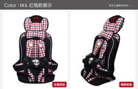 Wholesale Baby Car Safety Seat Years Old Portable Child Car Safety Seat Kids Seats Chairs Toddlers Car Seat Cover Harness Cushion blue pink