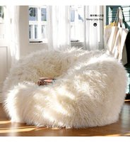 bean bags set - sofa set living room furniture luxe bean bag faux fur adult outdoor long faux fur lounge Chair corner sofa bed