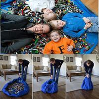 2016 Grand format 150cm baby play tapis Portable rapidement sacs de stockage sac en nylon multifonction pour bébé jouets Lego 3 couleurs D773L