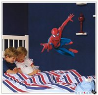 amazing wall papers - Amazing Large Super Spider man Cartoon Wall Decals Kids Boys Room Decor Wall Stickers Wall paper