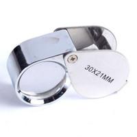 Wholesale 30x21mm Triplet Jewelers Eye Loupe Magnifier Magnifying Glass Jewelry Diamond