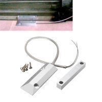 new alloy security door - Zinc Alloy Normally Closed Anti magnetic V Door Safely Security Cable Rolling Door Magnetic Burglar Alarm