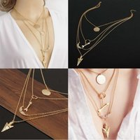 chunky jewelry - New Fashion Women Charm Jewelry Chain Pendant Geometry Choker Chunky Statement Necklace SGL JT