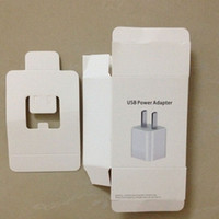 apple wall paper - empty paper Retail Packing Box White Paper Bag Package For iPhone s s S Plus USB Power Adapter US Wall Charger