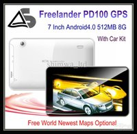 Wholesale Freelander PD100 GPS Navigator tablet Inch Capacitive Screen Android Allwinner A13 GB Rom FM Transmitter Dual Camera