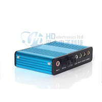 Wholesale Hot Deal New Blue channel External Audio Music Sound Card Soundcard For Laptop PC